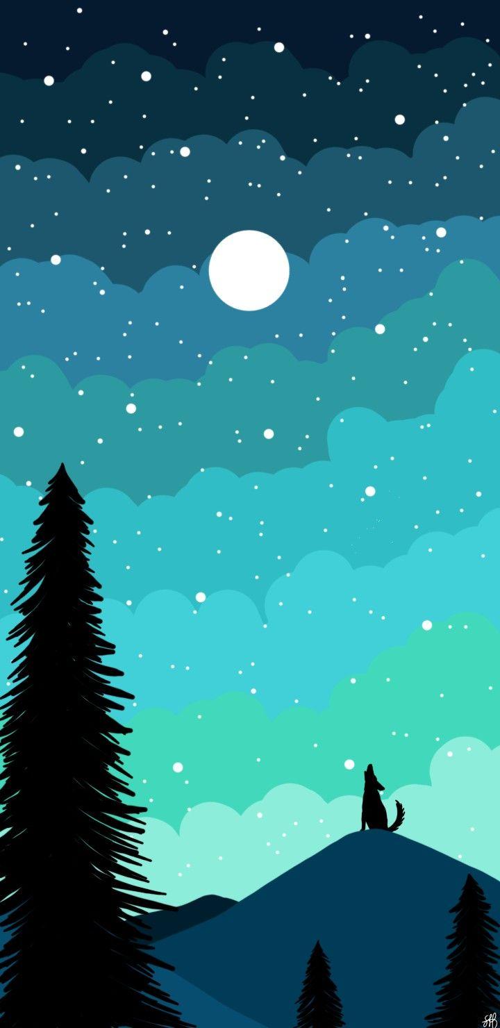 Wallpaper Noite Com Estrelas Wallpaper Wallpaper Fofos Imagens Plano De Fundo