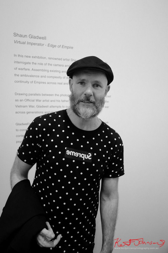 https://flic.kr/p/22sTYaN | Shaun Gladwell ACP Sydney | Artist Shaun Gladwell at the launch of his exhibition  Virtual Imperator - Edge of Empire. Australian Centre of Photography, Sydney March 2017.
