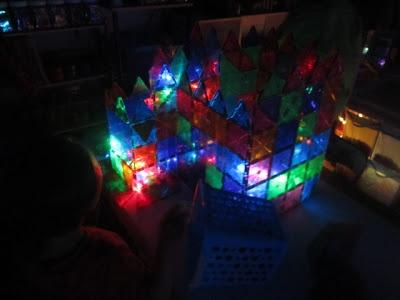 Fun With Magna Tiles Glow Dark And Glow Sticks