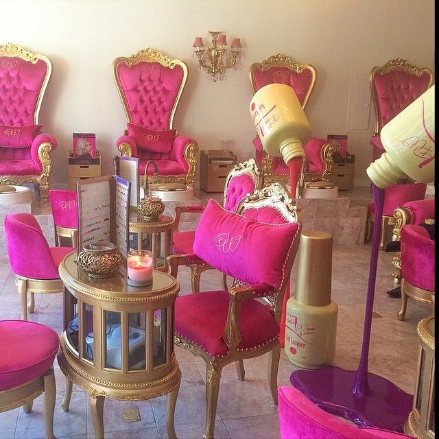 pink nail salon chairs conference room tables and holy paintedwomanbykameco located in beverly hills thecoordinatedbride beauty ideas salons decor
