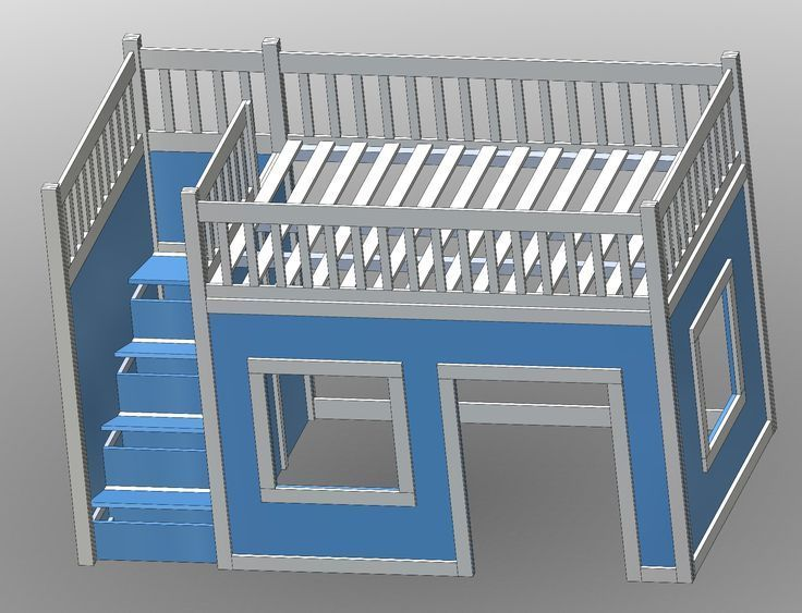 Best Ana White Build A Full Size Playhouse Loft Bed With 400 x 300