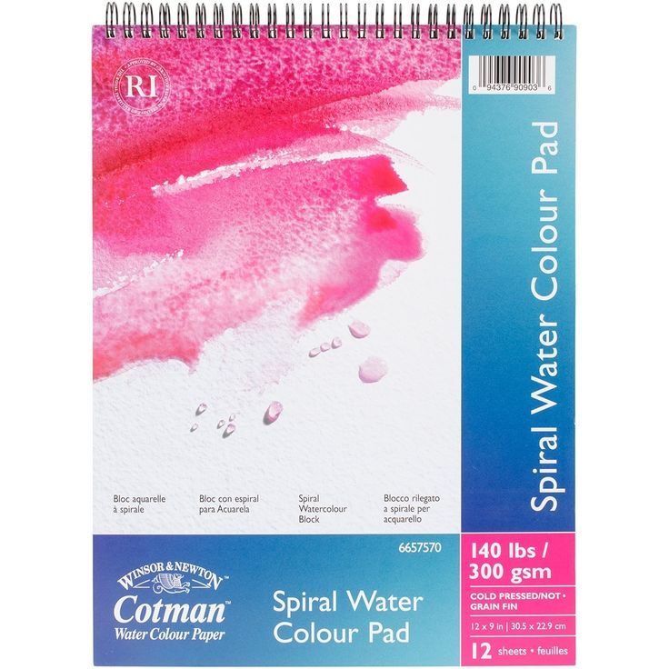 "Reeves Winsor & Newton Cotman Water Colour Spiral Paper Pad 9""X12""- - 12 sheets"