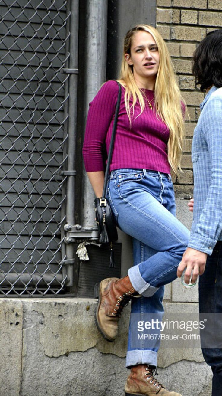 Combat Boots And Rolled Up Jeans Girls Hbo Fashion