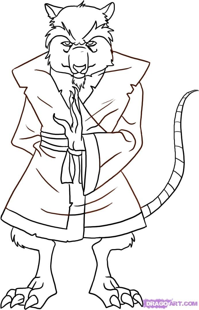 Master Splinter Coloring Pages