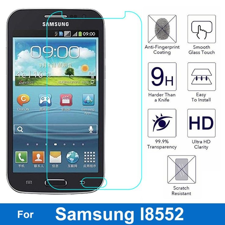 0.26mm 9H Front LCD Tempered Glass Film For Samsung Galaxy Win duos i8552 Gt-i8552 i869 Screen Protector pelicula de vidro