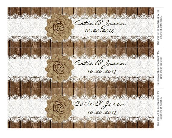 Hey, I found this really awesome Etsy listing at https://www.etsy.com/listing/204033853/rustic-lace-water-bottle-label-diy-add