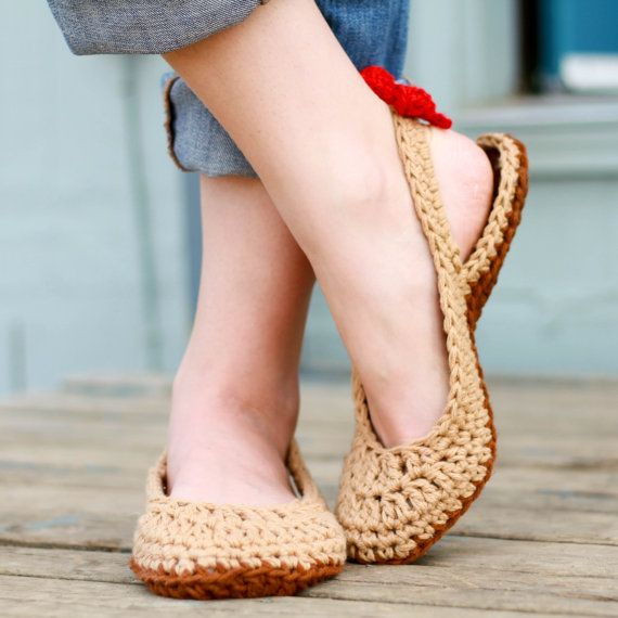 CROCHET PATTERN  Crochet Slingbacks PDF Woman sizes by Mamachee on Etsy