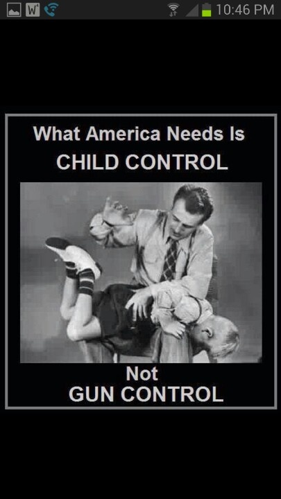 Definitely the truth. I don't believe a child should be beaten, but disciplining one the right way, in order to teach them right from wrong.