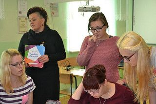 Zajecią z doradcą zawodowym w ramach przygotowania kulturalno-pedagogicznego.   by ZSP Nr 2