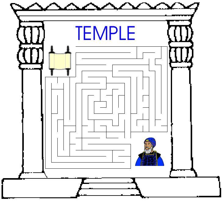 Lesson 52 MoH I - Mystery of History Volume 1 King Josiah Maze