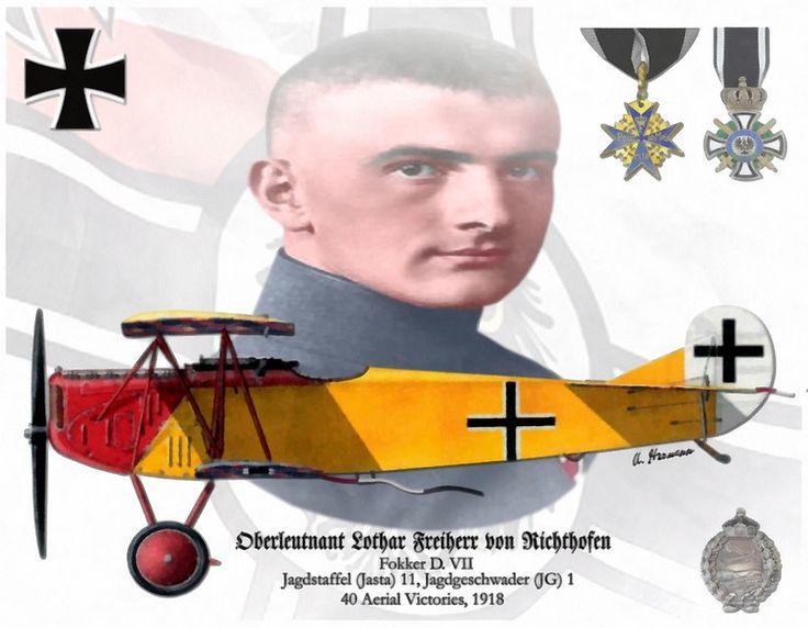Oberleutnant Lothar Freiherr von Richthofen