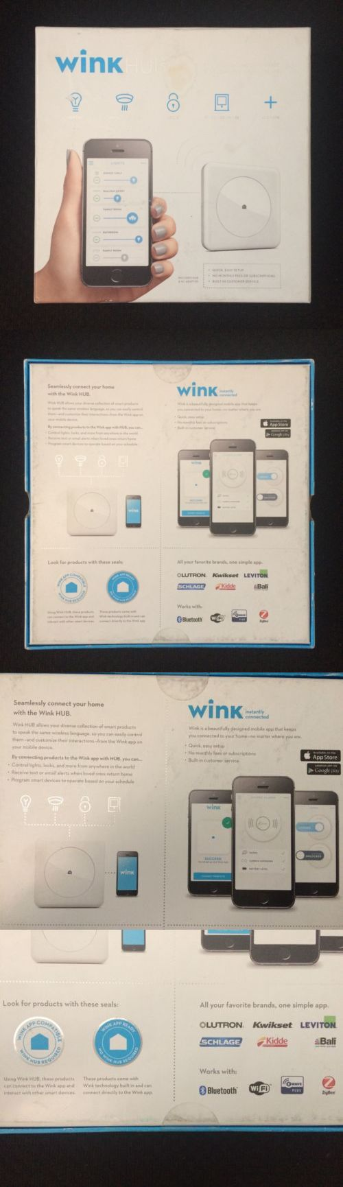 Controls and Touchscreens: Wink Connected Hub Home Automation Controller Wifi Z-Wave Zigbee Pwhub-Wh01 New! -> BUY IT NOW ONLY: $35.5 on eBay!
