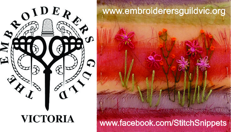 Come along and have some fun - contemporary and traditional embroiderers of all skill levels catered for! (Embroidery by Rhonda Justus)