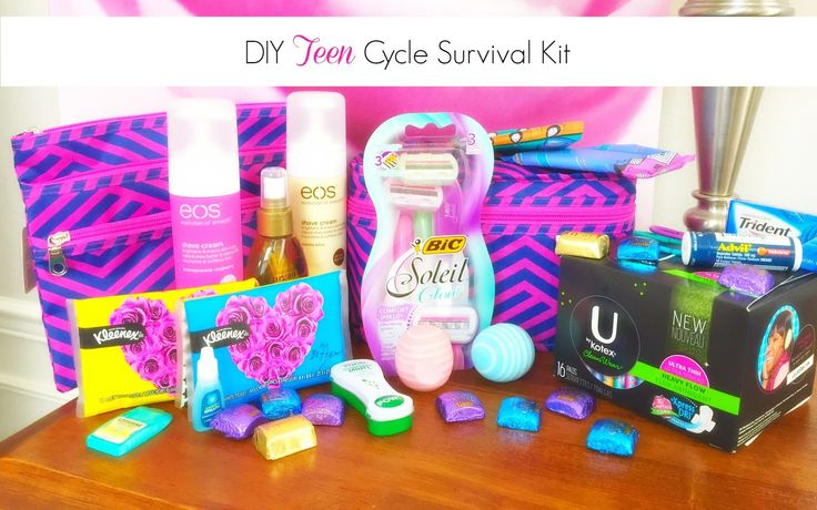 United States of Motherhood: DIY Teen Girl Cycle Survival Kit: Studying & Swimming with Periods #CycleSurvival #ad #CollectiveBias