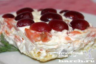 Слоеный рыбный салат Двойной тулуп, salaty rybnye salaty headline