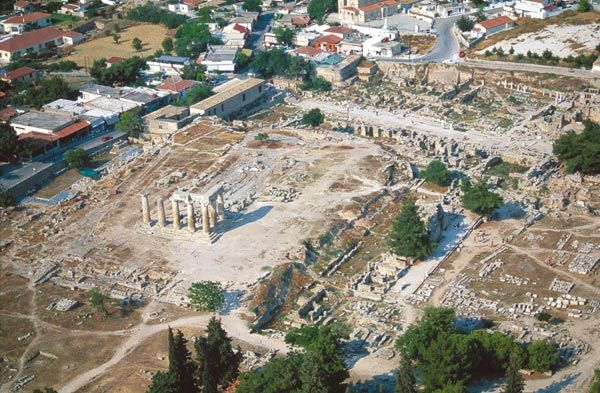 Aerial view of Corinth.