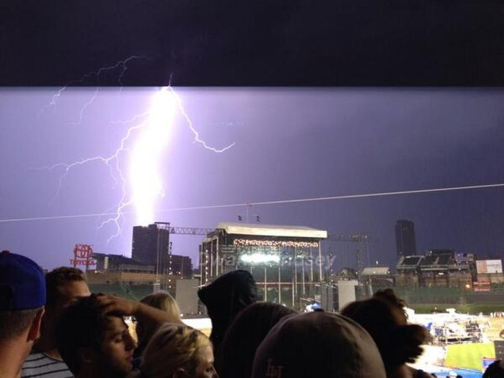 PHOTO: Stunning Lightning At Pearl Jam's Wrigley Field Show (7.20.13)