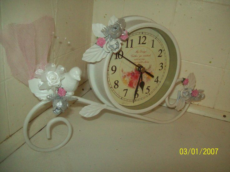 My Shabby Chic clock make over by Corinea Neil.