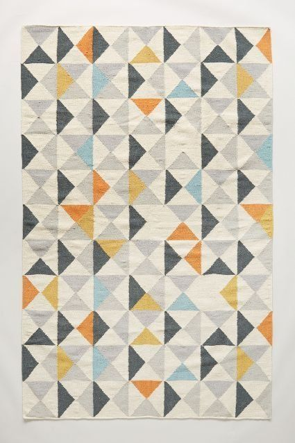 Perfect Symmetry Rug - From $148. Another flat weave, this wool and cotton rug is a bit more muted, but still eye catching and cheerful enough to brighten a whole room.