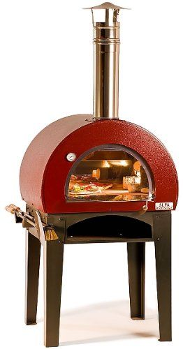 Wood Fired Pizza Oven Red....WANT!
