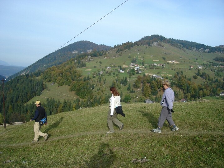 Hill walking in Transylvania
