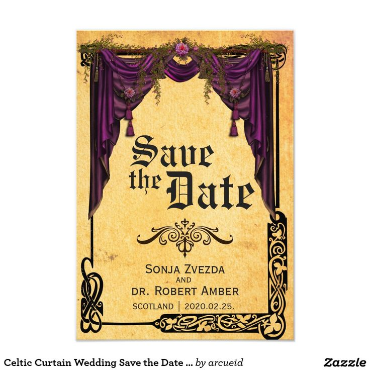 42 best medieval wedding images on pinterest medieval wedding celtic curtain wedding save the date invitation stopboris Image collections