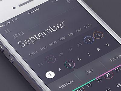 Calendar app by Jakub Antalík