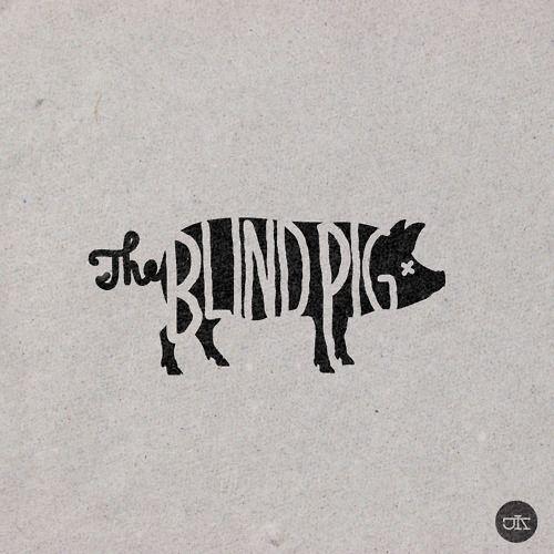 love the logo: Logo Design, Blindpig, Pigs, Logos Design, Pork Menu, Typography