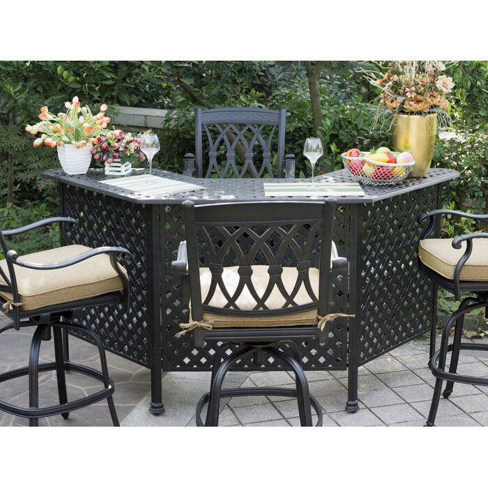 outdoor bar furniture patio bar set