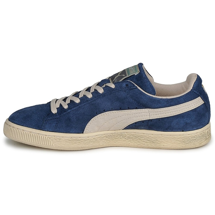Baskets basses Puma SUEDE CLASSIC VNTG2 Bleu - Livraison Gratuite avec Spartoo.com ! - Chaussures Homme 84,99 €