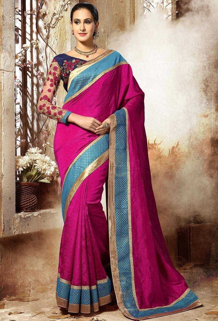 #Rani #Pink #Dupion #Silk #Designer #Saree #nikvik  #usa #designer #australia #canada #freeshipping #fashion #dress #sarees #sale