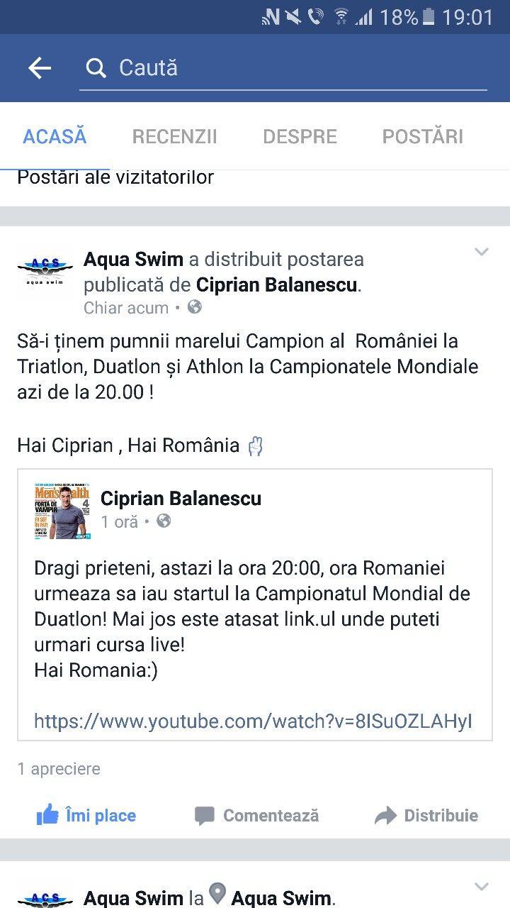 Hai Ciprian ...HAI ROMÂNIA...marele Campion al României are startul la ora 20.00 la Campionatele Mondiale!