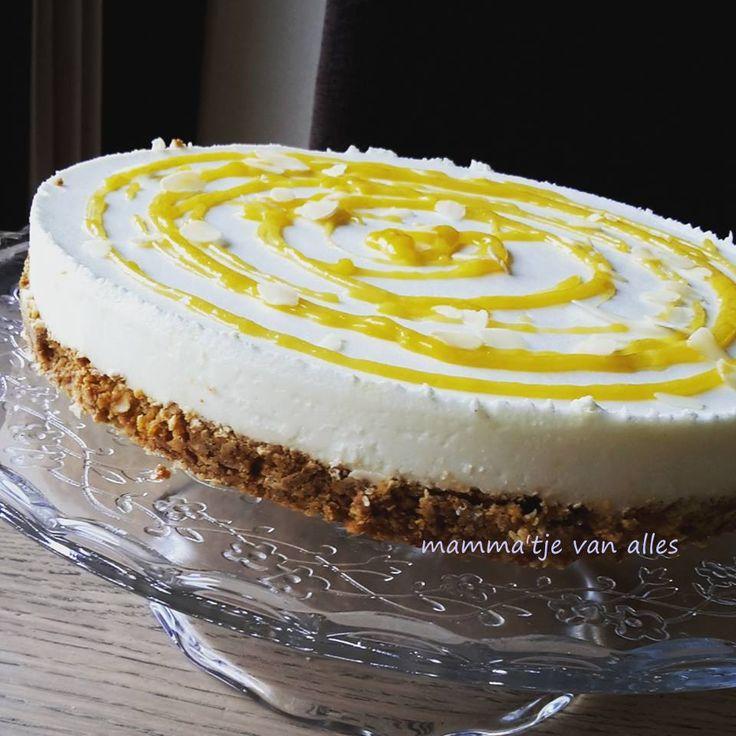 Mamma'tje van alles: Citroen yoghurttaart met lemoncurd.