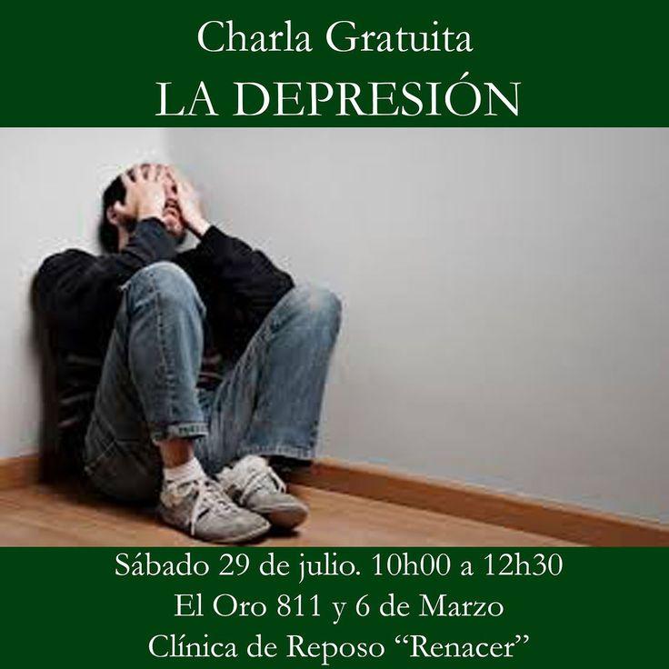 La #Depresión es un trastorno psiquiátrico que muchas veces no se le presta atención. Puede tener consecuencias graves. Por tanto los invitamos a la charla gratuita sobre LA DEPRESIÓN sus causas y consecuencias. Entrada gratuita. Inscripción previa clinicarenacer@live.com El Oro 811 y 6 de Marzo. Sábado 29 de julio de 10:00 a 12:30. http://ift.tt/1RoODhV  http://ift.tt/2uZTvSC