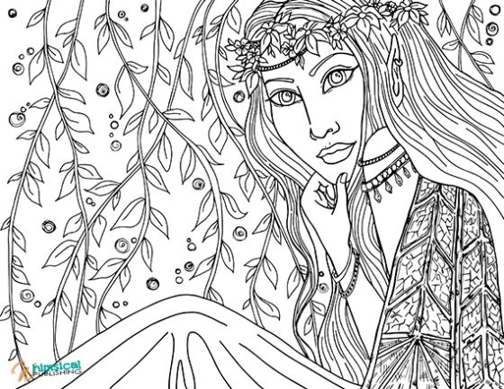 free printable coloring pages for adults advanced dragons 60 best coloring pages fairies images on - Fantasy Coloring Pages Adults