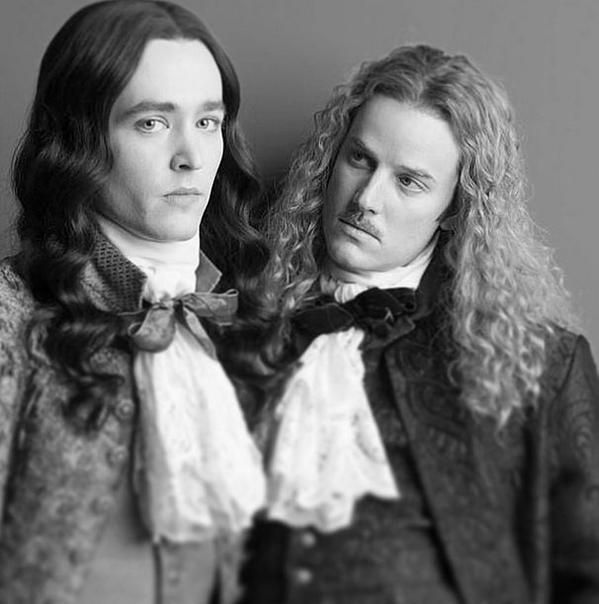 Alexander Vlahos as Monsieur Philippe Duc D'Orleans & Evan Williams as the Chevalier de Lorraine in the canal+ series Versailles