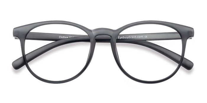 7867e28521 Chilling Matte Gray Plastic Eyeglasses from EyeBuyDirect. Discover  exceptional style