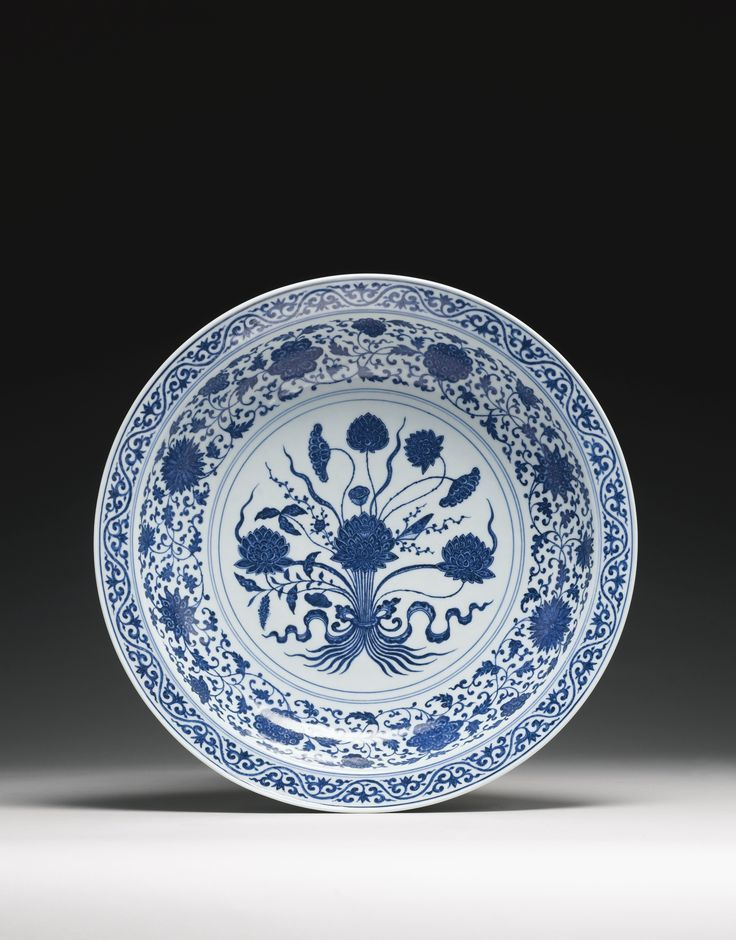 A large blue and white u0027Lotus Bouquetu0027 dish Qianlong seal mark and period. Chinese CeramicsWhite BouquetsCeramic PlatesWork ... & The 65 best Chinese Porcelain Dishes images on Pinterest | Chinese ...