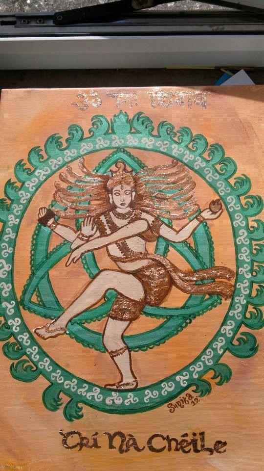 dancing shiva, celtic symbols, combined