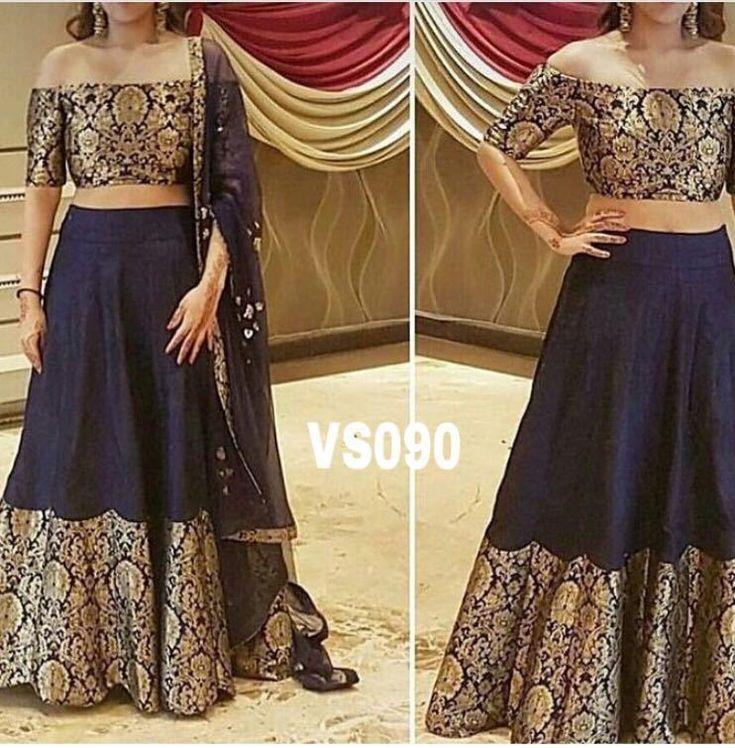 Indian Designer Bollywood Lehenga Partywear Ethnic Women Dress Pakistani - VS090 #Unbranded #LehengaCholi #PartyWeddingReceptionFestival