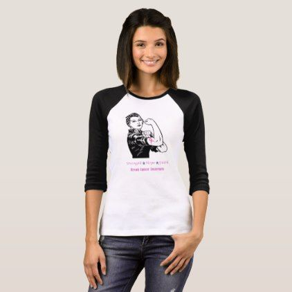 #Rosie the Riveter Fights Breast Cancer T-Shirt - #breastcancer #tshirts #support #awareness #wife #women #woman #breast #cancer