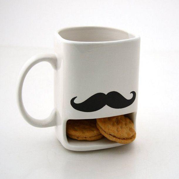 snorren koffie mok, met koekkies
