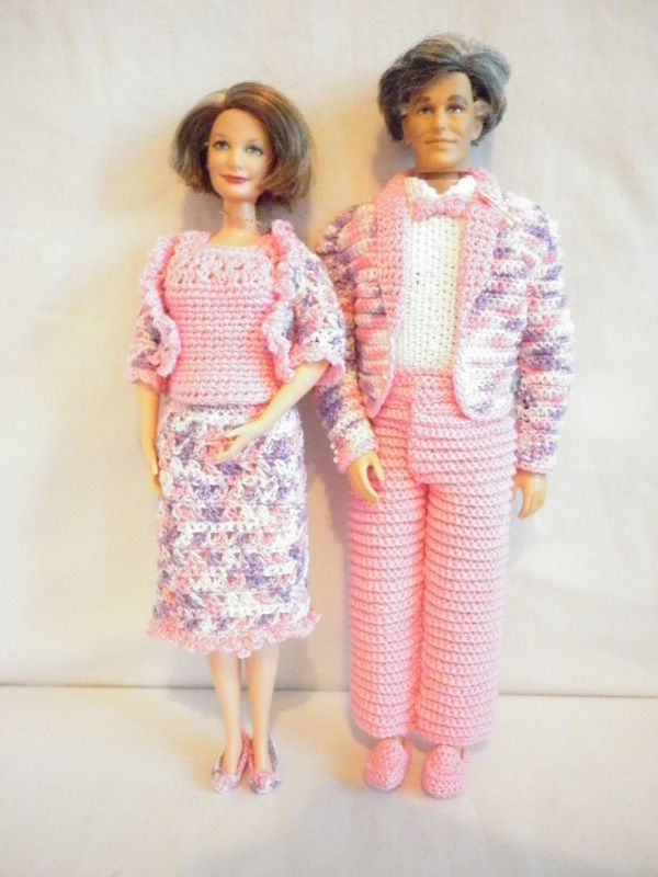 Boo Bear S Crochet Barbie Wedding Parents Of The Bride