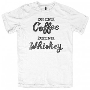 DRINK COFFEE DRINK WHISKEY WITH ALLINCLUSIVE APPAREL BOYS T-SHIRT