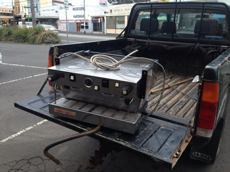 The coffee machine arriving on the back of a truck! ~ Mon