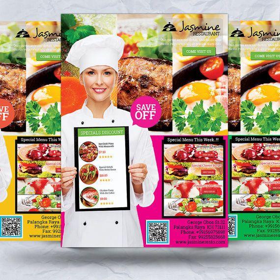 Elegant Restaurant Promotion Flyer by FionaCreatiiv on Etsy, $4.00
