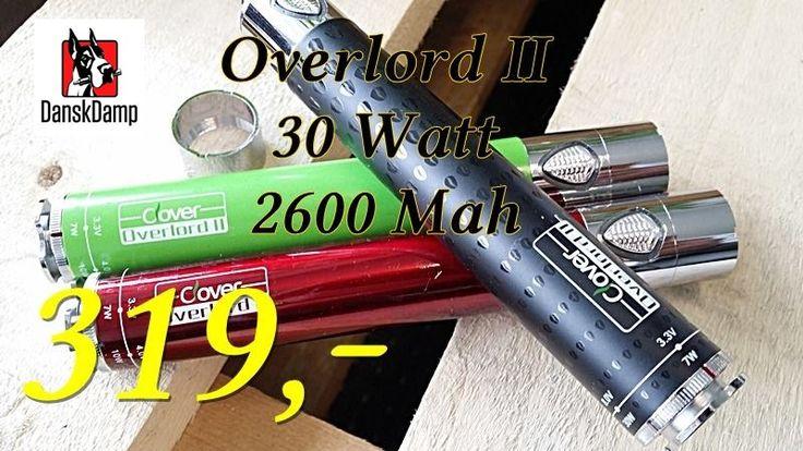 NYHED: http://danskdamp.dk/mods-med-vv-og-eller-vw-31/clover-overlord-ii-30-watt-p8037 #vapelife #ecigs