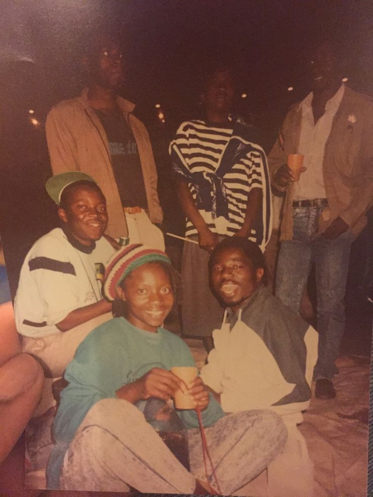 My mum and dad and her brothers and his friends at a reggae concert, circa 1986