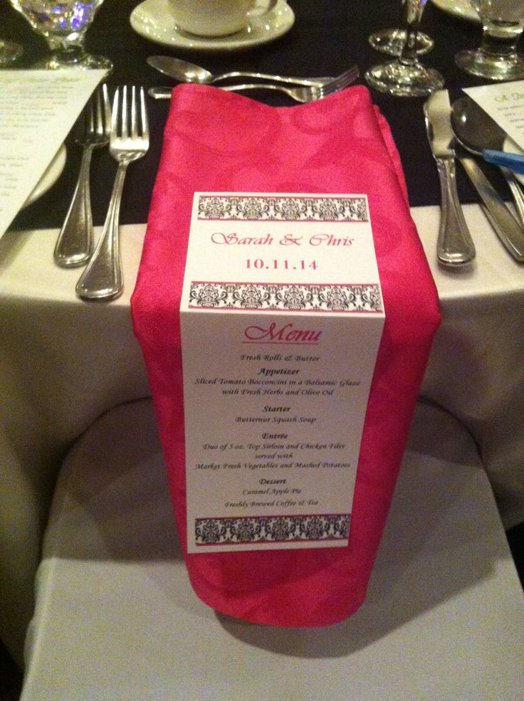 Custom Menu Cards - Holiday Inn Burlington Hotel & Conference Centre