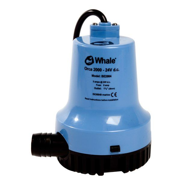 Whale Orca 2000 Gph Submersible Bilge Pump 12v Be2002 Orca Submersible Pumps